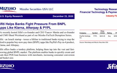 Jifiti Helps Banks Fight Pressure From BNPL Apps Like Klarna, Afterpay & PYPL