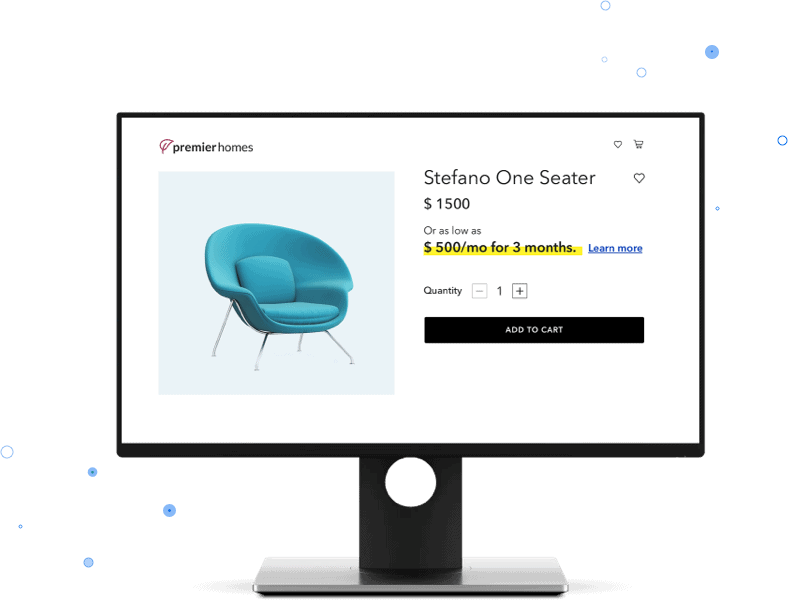 Financing furniture