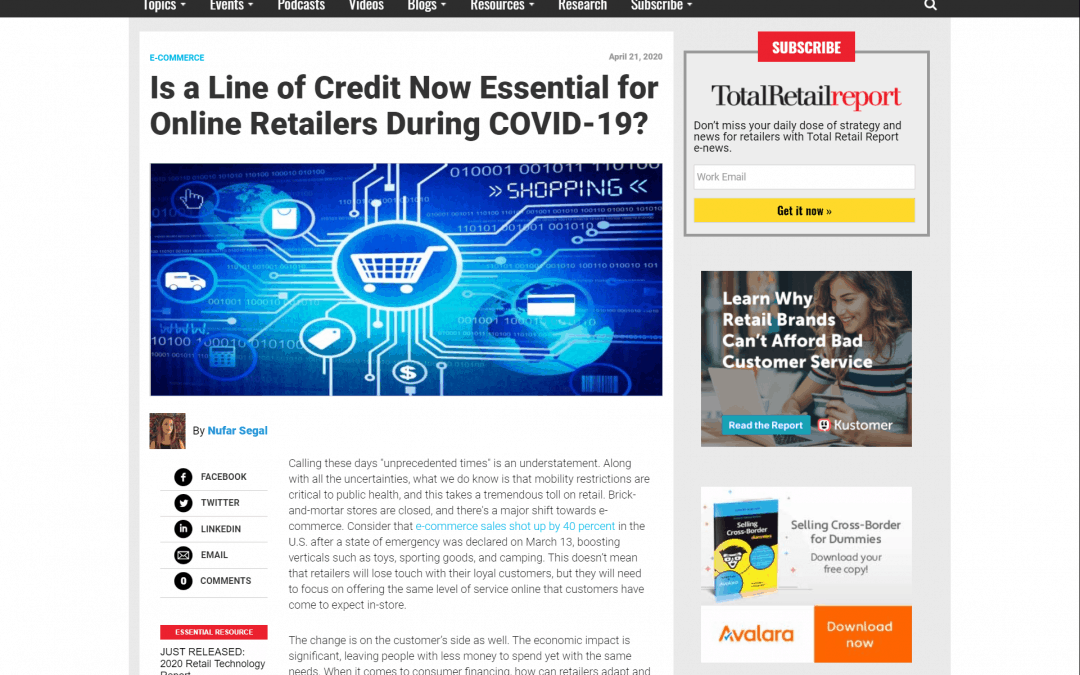 Is a Line of Credit Now Essential for Online Retailers During COVID-19? | Total Retail